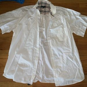 Burberry men's nova check button down shirt 43